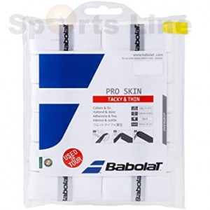 Babolat Pro Team Tacky Thin Tacky Touch Grip White (Pack of 12)