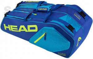 Head Core 6R Combi Tennis Kit Bag (Blue / Yellow)