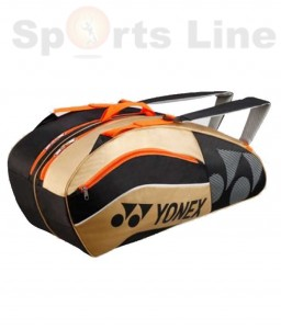 Yonex Tennis Kit Bag 8529 TG BT6 (Black & Gold)