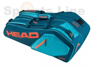 Head Core 6R Combi Tennis Kit Bag (Navy / Red)