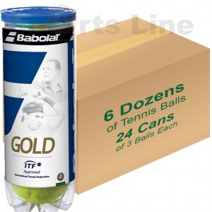 Babolat Gold Pet X3 Tennis Ball (24 Cans)