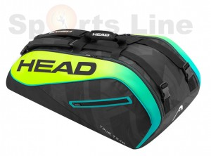 Head Extreme 9R Super Combi Tennis Bag (Black / Yellow)