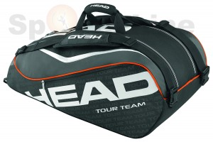 Head Tour Team 9R Super Combi Tennis Bag(Black / White)