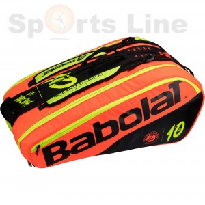 Babolat RH 12 Pure Decima RG/FO Black Red YELLOW 287 Tennis Kit Bag