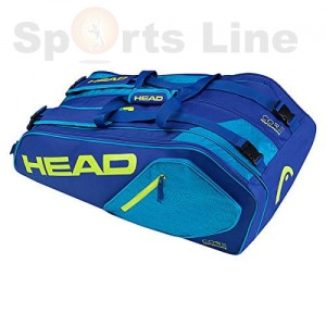 Head Core 9R Supercombi Tennis Kit Bag (Blue / Yellow)