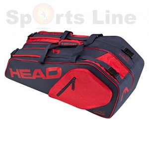 Head Core 9R Supercombi Tennis Kit Bag(Navy / Red)
