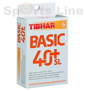 Tibhar 40+ Basic SL Pack Of 6 (White) 2 Packs